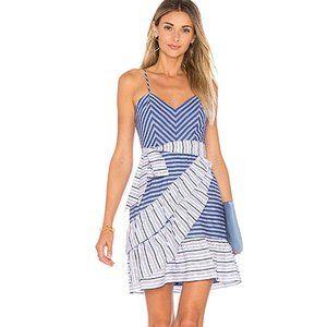 NWT PARKER Brooklyn Ruffle Striped Dress
